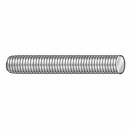 Zoro Select Lc.M0812501.Zp.Dar Threaded Rod, M8-1.25, Steel, Zinc Finish, 1 M