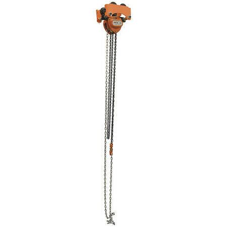 Vestil Low-1P Low Headroom Chain Hoist Trolley Push,1K