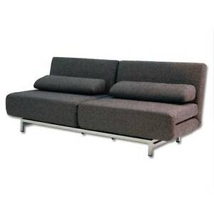 Modern ISO Double Sofa Bed - Charcoal - swivel chairs / sofa bed