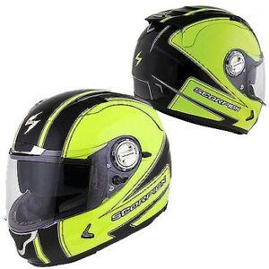 Motorcycle Helmet scorpion exo-1100 sixty-six Hiviz Large
