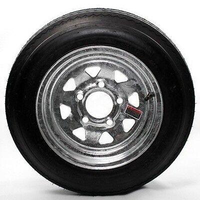 "(2) 4.80X12  Bias Trailer Tire Mounted 12"" 5 Lug Galvanized Spoke Wheel LR B"