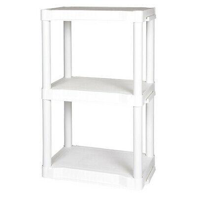 Plano Molding 953305 Plastic Shelving50 Lb. Cap.3 Shelves