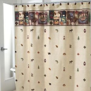 New shower curtains Blonder Home Camping Trip