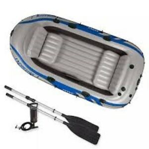 BRAND NEW IN BOX 4 Person Inflatable Boat Package
