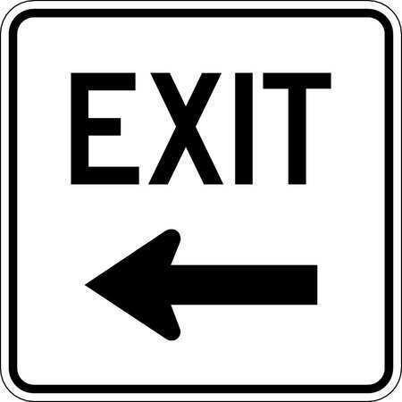 Lyle Lr7-69L-18Ha Traffic Sign,18 X 18In,Bk/Wht,Exit,Mutcd