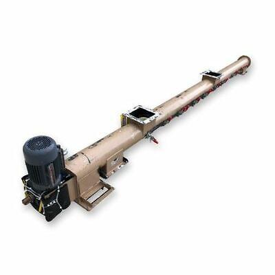 7 Dia. X 13-6 Long Tubular Screw Conveyor W Pvc Auger