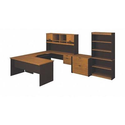 Innova 92851-63 U-shaped Desk Tuscany Brown