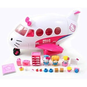 Hello Kitty Airline Playset 25 pieces CONDITION IS MINT!