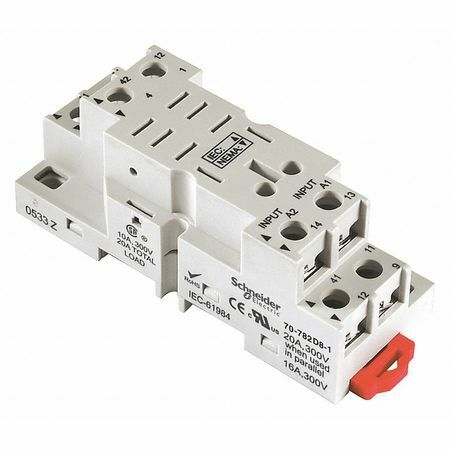 Schneider Electric 70-782D8-1A Relay Socket,Finger Safe,Square,8 Pin