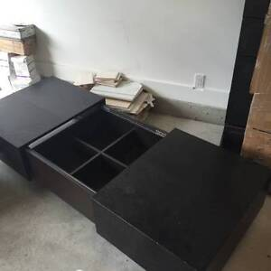 High Quality Beautiful Black Coffee Table with Storage North Shore Greater Vancouver Area image 1