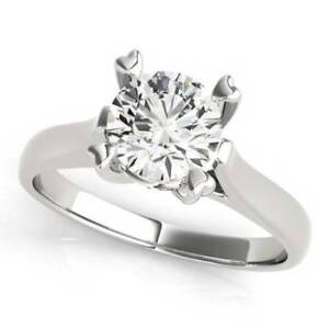 2.05 carat tw Solitaire Diamond Engagement Ring in 14KWhite Gold
