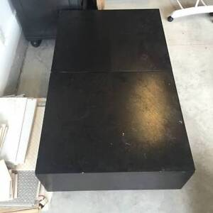 High Quality Beautiful Black Coffee Table with Storage North Shore Greater Vancouver Area image 3