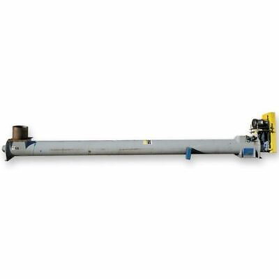 Used 9 Dia. X 15 L Continental Tubular Screw Auger Conveyor Feeder