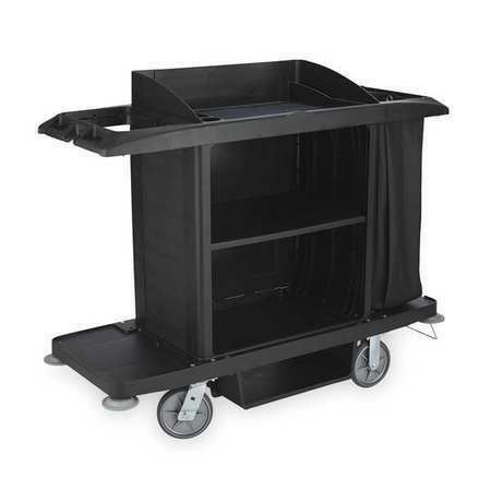 """Rubbermaid Fg618900bla 60"""" Housekeeping Cart With Locking Casters"""