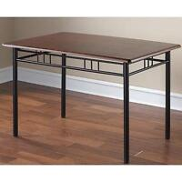Sturdy BLACK wood + metal Dining Room Table, pick up ONLY, $40