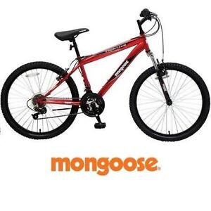 "NEW* MONGOOSE 24"" FRONTIER BIKE - 113842387 - MOUNTAIN BIKE - BOY'S MEN'S - RED - BICYCLE"