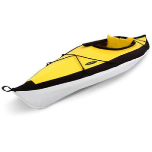 Foldable kayak with back pack carrier