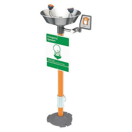 Guardian Equipment G1825 Pedestal Mounted Eyewash Station Stainless Steel