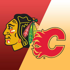4 Flames vs. Blackhawks tickets - Super cheap! Only $250 for all