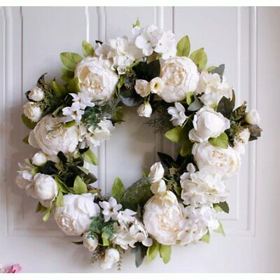 Artificial Wreaths Peony Flower - 15