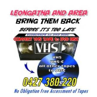 VIDEOS TO DVD DISC IN LEONGATHA
