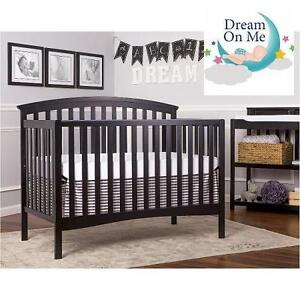 NEW* DREAM ON ME 5 IN 1 BABY CRIB EDEN 5 IN 1 CONVERTIBLE CRIB - BLACK 105447413