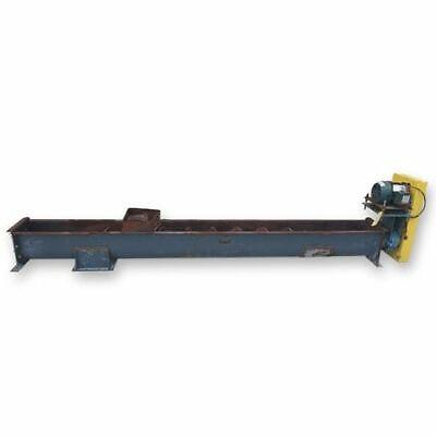 Used 9 Dia. Center Feed Carbon Steel Screw Auger Conveyor Feeder