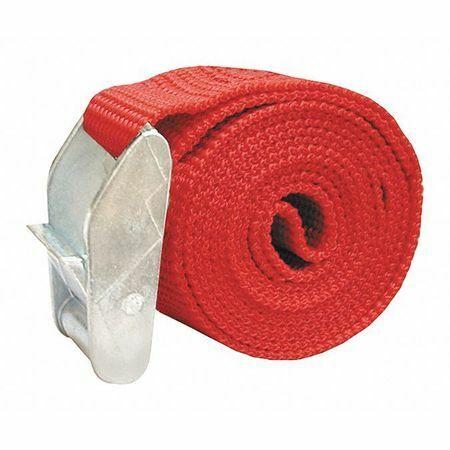 "JONES STEPHENS S20101 Cam Strap,Red,1"" x 4 ft."