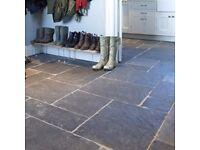 Garden slabs kitchen tiles natural flagstone limestone patio paving grey black charcoal