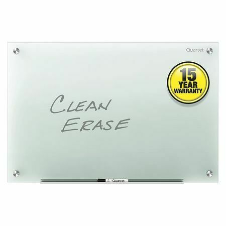 "QUARTET G4836F 36""x48"" Glass Whiteboard, Gloss"