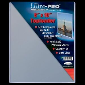 "Ultra Pro ... 8"" x 10"" ... TOP LOADERS ... 8x10 sleeves will fit"