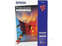 Epson Photo quality ink jet paper A4 100 sheets per box