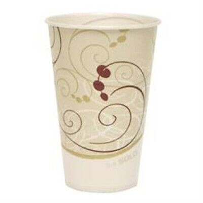 Drinking Cup Solo 12 oz. Symphony Wax Coated Paper Disposable Case of 2000 12 Oz Waxed Cold Cup
