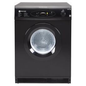 White Knight Tumble Dryer 6kg Black C86AB
