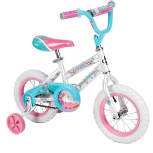 "Huffy 12"" Sea Star Girls' Pink Bike with Training Wheels"