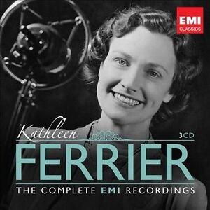 KATHLEEN FERRIER Handel Gluck Mahler Purcell 3CD NEW Complete EMI Recordings