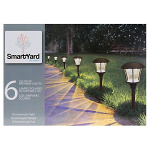 Outdoor LED Solar Lights (6 in Pack) - NEW IN BOX!