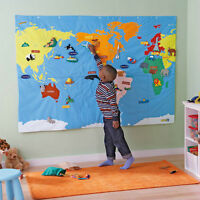 Large Cloth World Map
