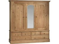 Antique pine wardrobes 1 x triple and 1 x double
