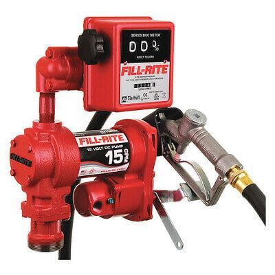 Fill-rite Fr1211hl Fuel Transfer Pump 12vdc 15 Gpm 14 Hp Cast Iron 1