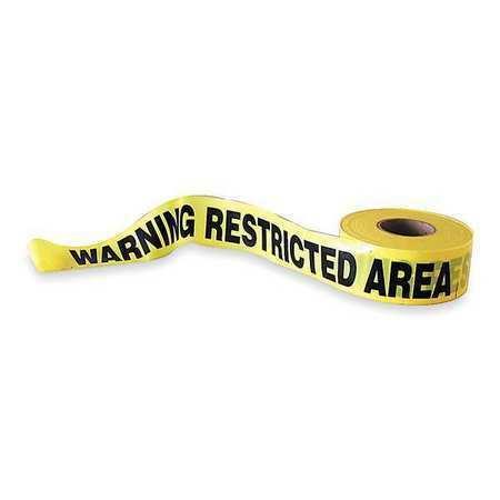 Zoro Select 1N912 Barricade Tape,Yellow/Black,1000Ft X 3In