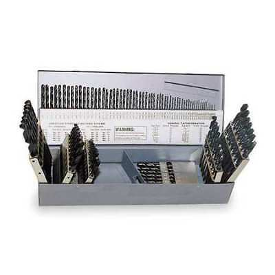 CHICAGO-LATROBE 57728 Jobber Drill Set, 115 PC, HSS, Blk Oxi