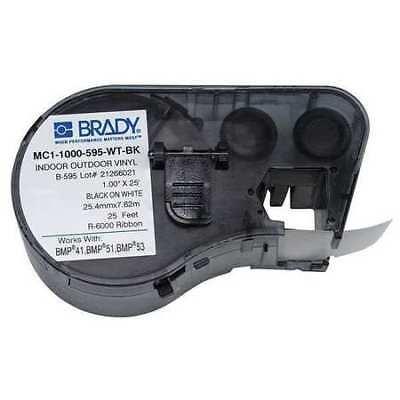 Brady Mc1-1000-595-wt-bk Label Tape Cartridgeblackwhite25 Ft.