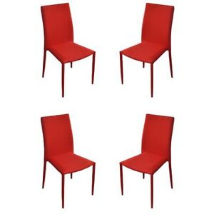NEW Set of 4 Piece Fabric Dining Room Chairs Only