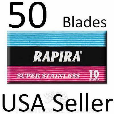 50 Blades RAPIRA SUPER STAINLESS STEEL Double Edge Safety Razor Pack best