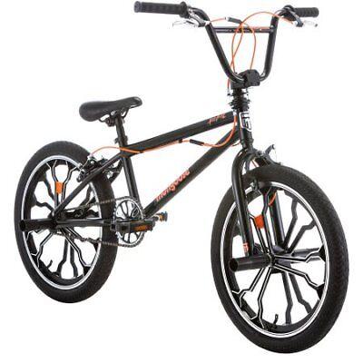 NEW! 20' Mongoose Rebel Freestyle Boys' BMX BIKE Black Bicyc
