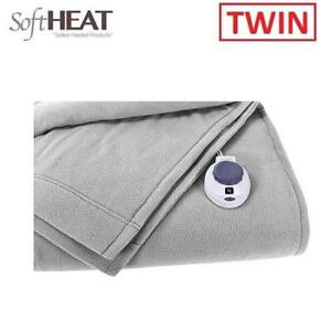 NEW ELECTRIC HEATED TWIN BLANKET 826767 218560652 SOFT HEAT LUXURY MICRO FLEECE LOW VOLTAGE