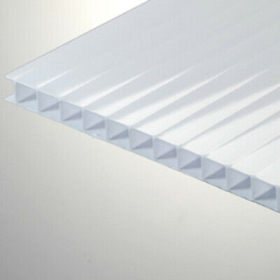 14 6mm Polycarbonate Twin Wall 24x12 Transluscent White Ice Sheet Azm