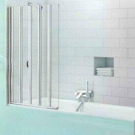 MERLYN SECURESEAL 5 FOLD BATH SCREEN