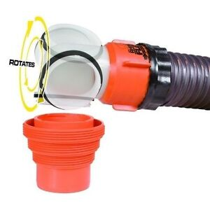 RV Sewer Elbow features swiveling translucent elbow